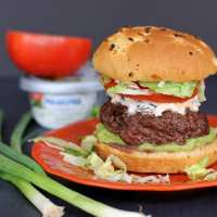 Seven Layer Taco Dip Burger