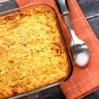 Green Chile and Chive Cornbread Casserole