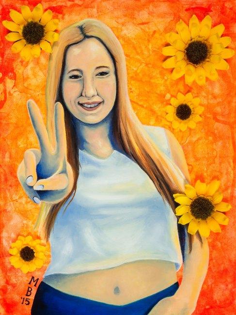 Mel Barrett Art Give Peace A Chance