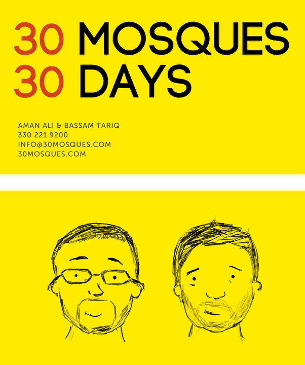 30 Mosques in 30 days business card