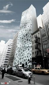 Exterior of the proposed Islamic Cultural Center for NYC
