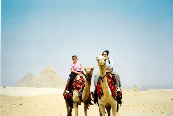 The pyramids at Giza, 2003.