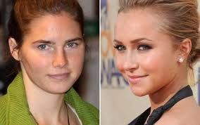 Amanda Knox and the actress who plays her.