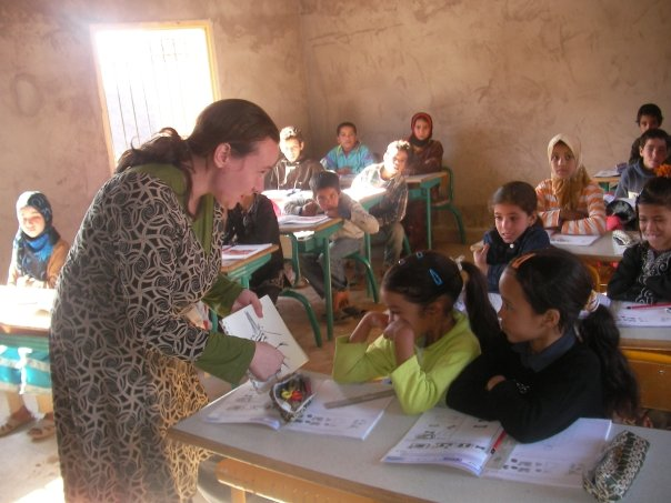 Katy serving as a health education volunteer in the Peace Corps, Morocco, 2009