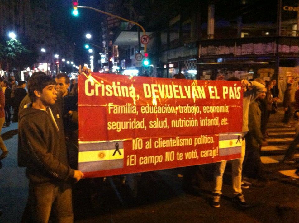 Cristina, return this country...
