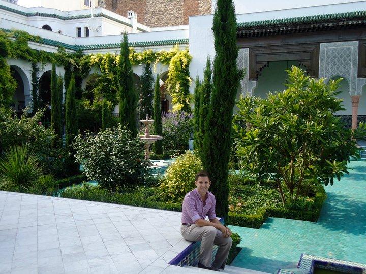 Kyle at the beautiful Mosquée de Paris