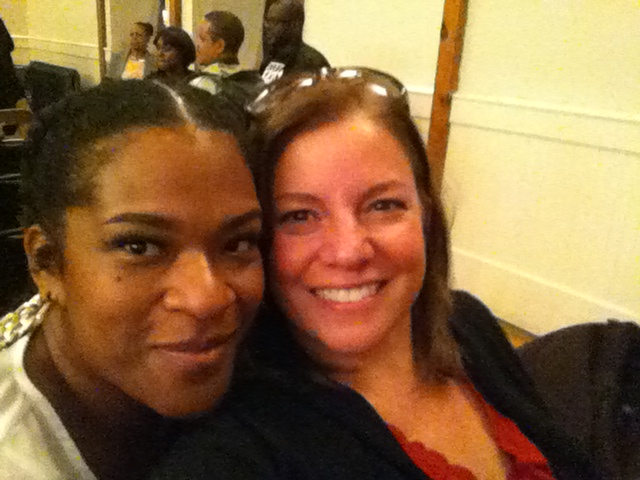"Sheneika, Founder of ""Date my City"" and I at James Ferguson's keynote at the African Americans in Western NC conference."