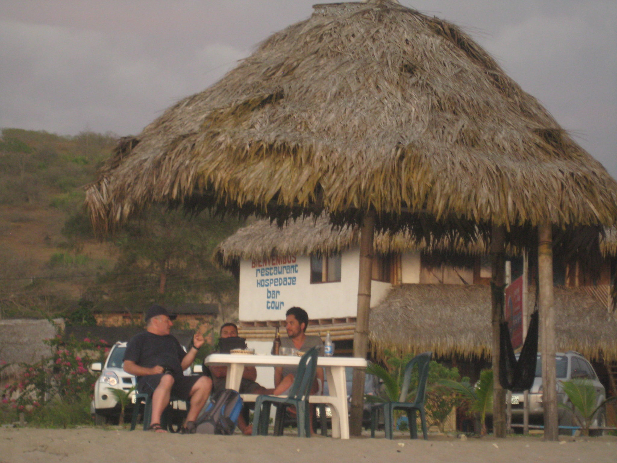 Las Tunas, Ecuador.  Hours spent with local friends - laughing, eating, talking, swimming,resting...and doing it all again.