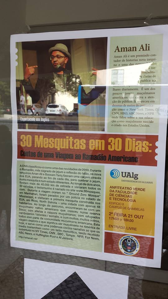 Aman's 30 Mosques presentation in Portugal was covered by the local news.