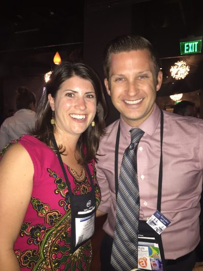 Reception Hopping with fellow MeliBEE Kyle Rausch (also of Arizona State University)