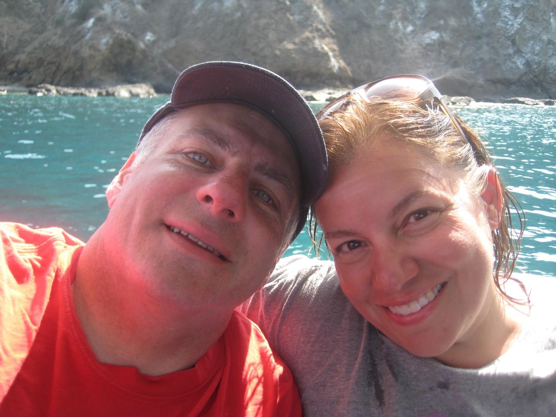 Post snorkeling in the beautiful waters near la Isla de la Plata