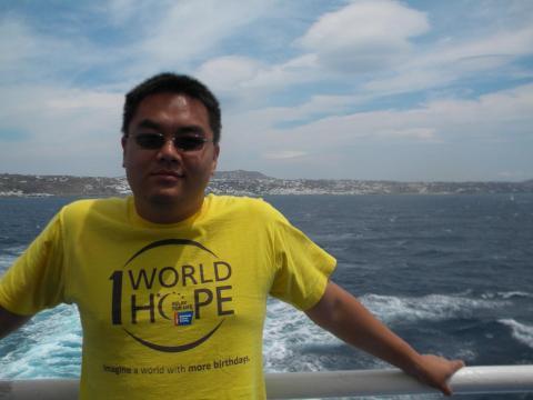Brian cruising around the Aegean Sea.