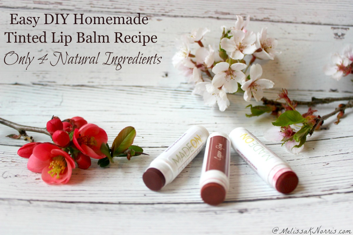 Diy Lip Balm Flavors Homemade Tinted Lip Balm Recipe Easy Diy