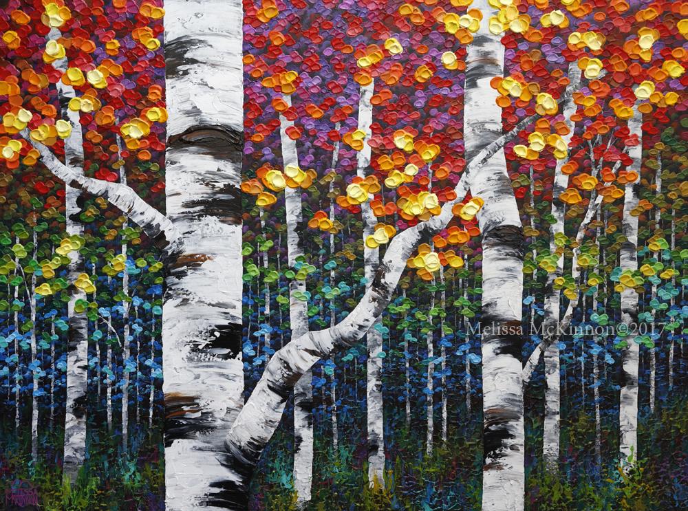 Birch Tree Fall Wallpaper Close Up Aspen And Birch Trees Melissa Mckinnon Artist