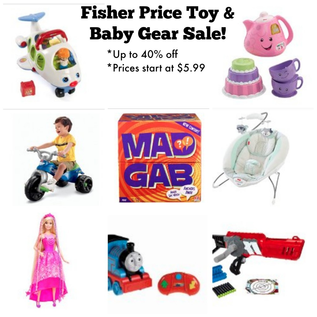 Baby Toys Sale Fisher Price Toys And Baby Gear 40 Off Today