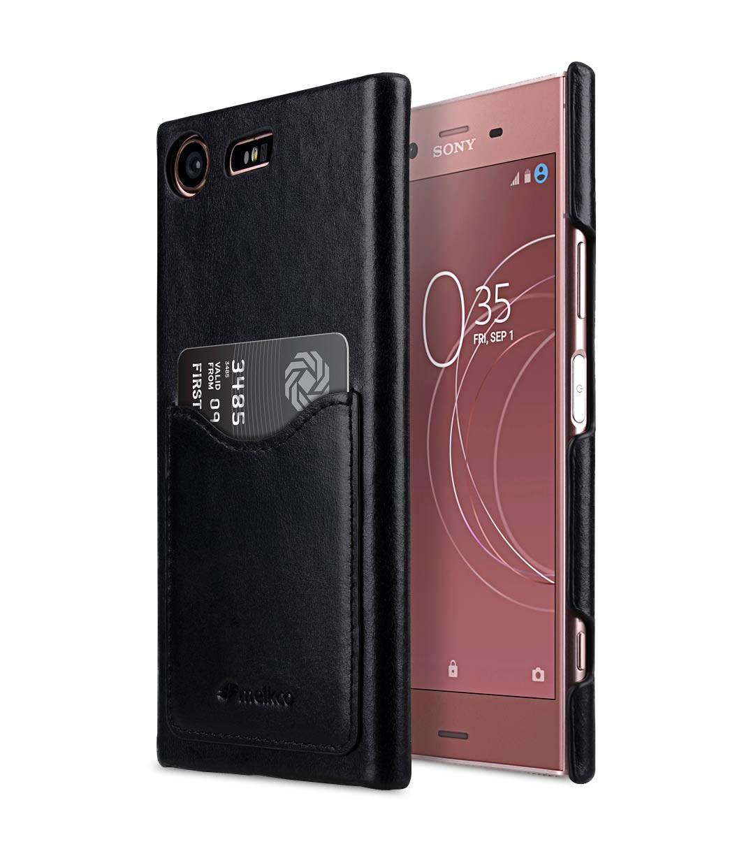 Sony Xz1 Compact System Update Premium Leather Card Slot Cover Case For Sony Xperia Xz1 Compact