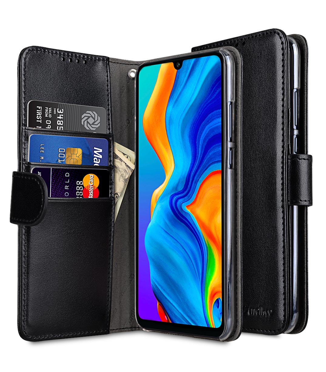 S8 Plus Book Case Pu Leather Wallet Book Clear Type Case For Huawei P30 Lite