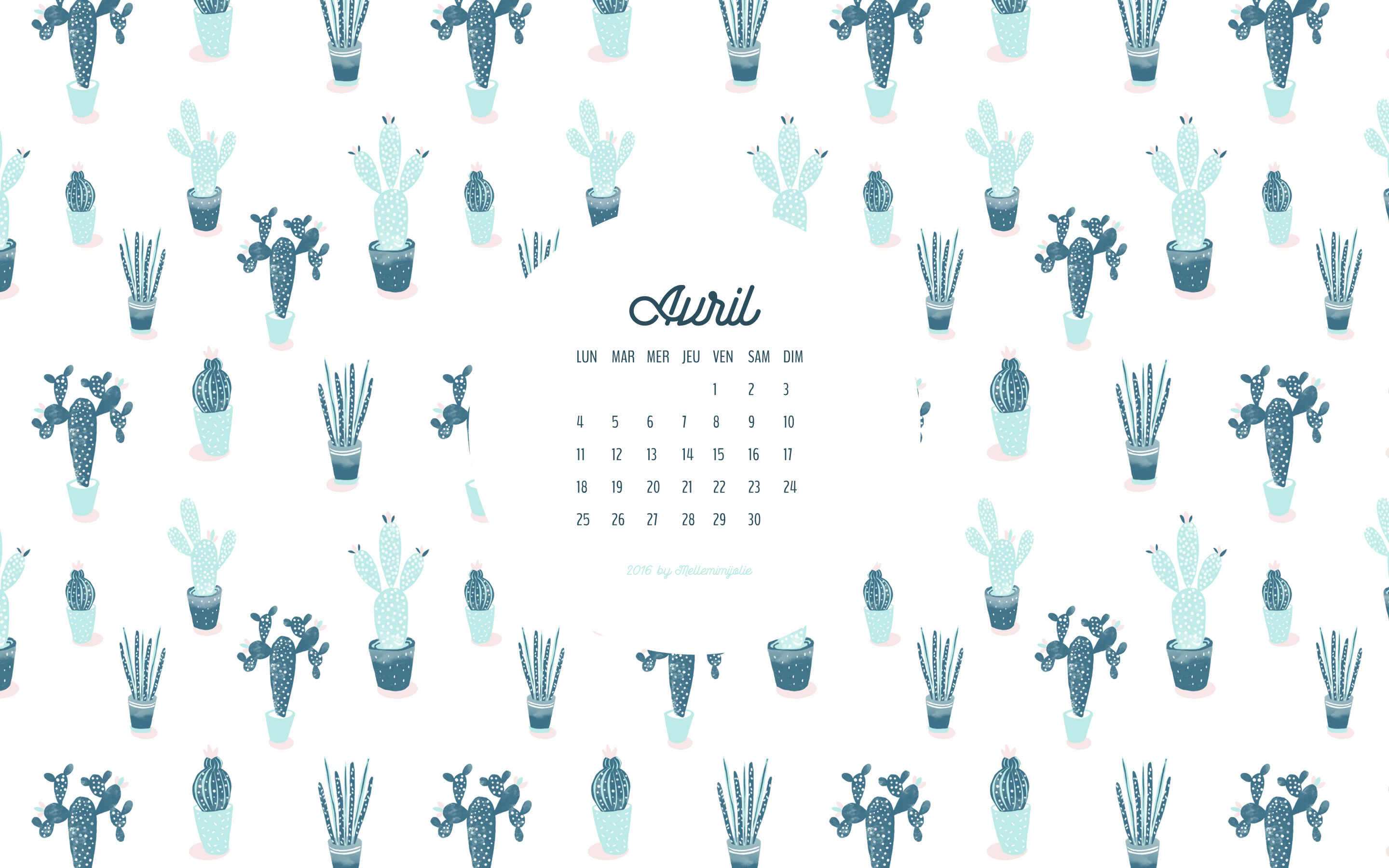 Cute Cactus Wallpaper Macbook Calendrier D Avril Mellemimijolie