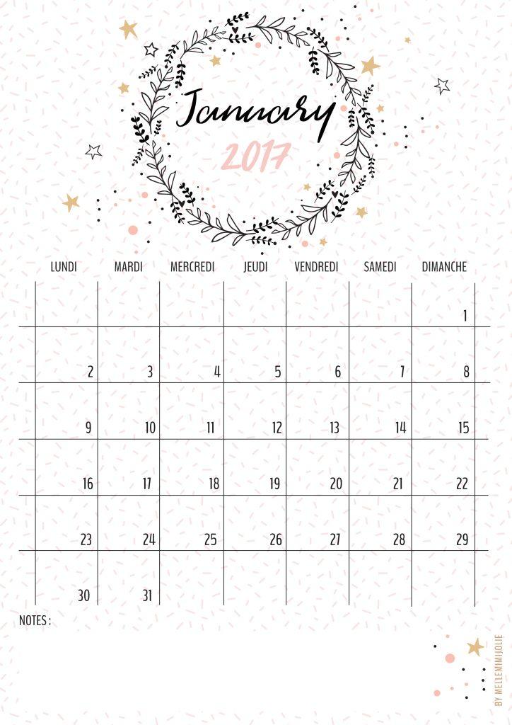 Arrow Wallpaper Cute Calendrier Janvier 2017 Mellemimijolie