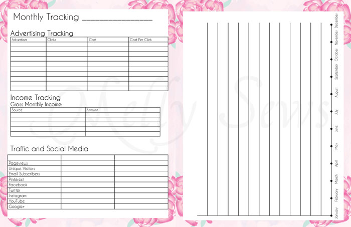 2016 DIY Planner - Blog Planner Free Printable Pages - Melly Sews