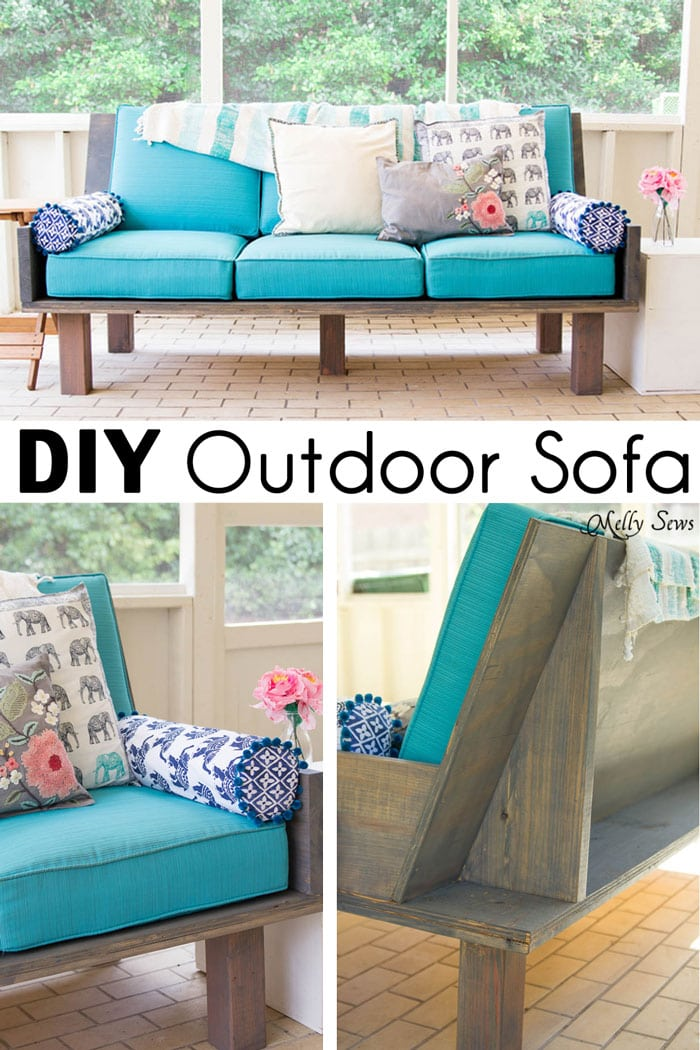 Plywood Couch Build A Diy Outdoor Sofa Melly Sews - How To Build A Couch
