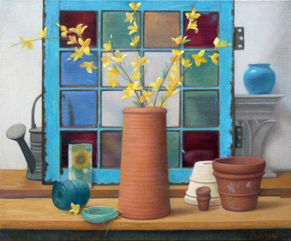 Greenhouse Medley, Still Life Oil Painting by Melody Phaneuf