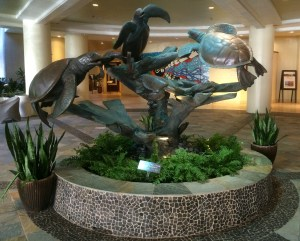 Turtle Sculpture in Front Lobby