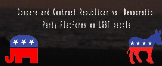 Republican vs. Democratic Party Platforms on LGBT People