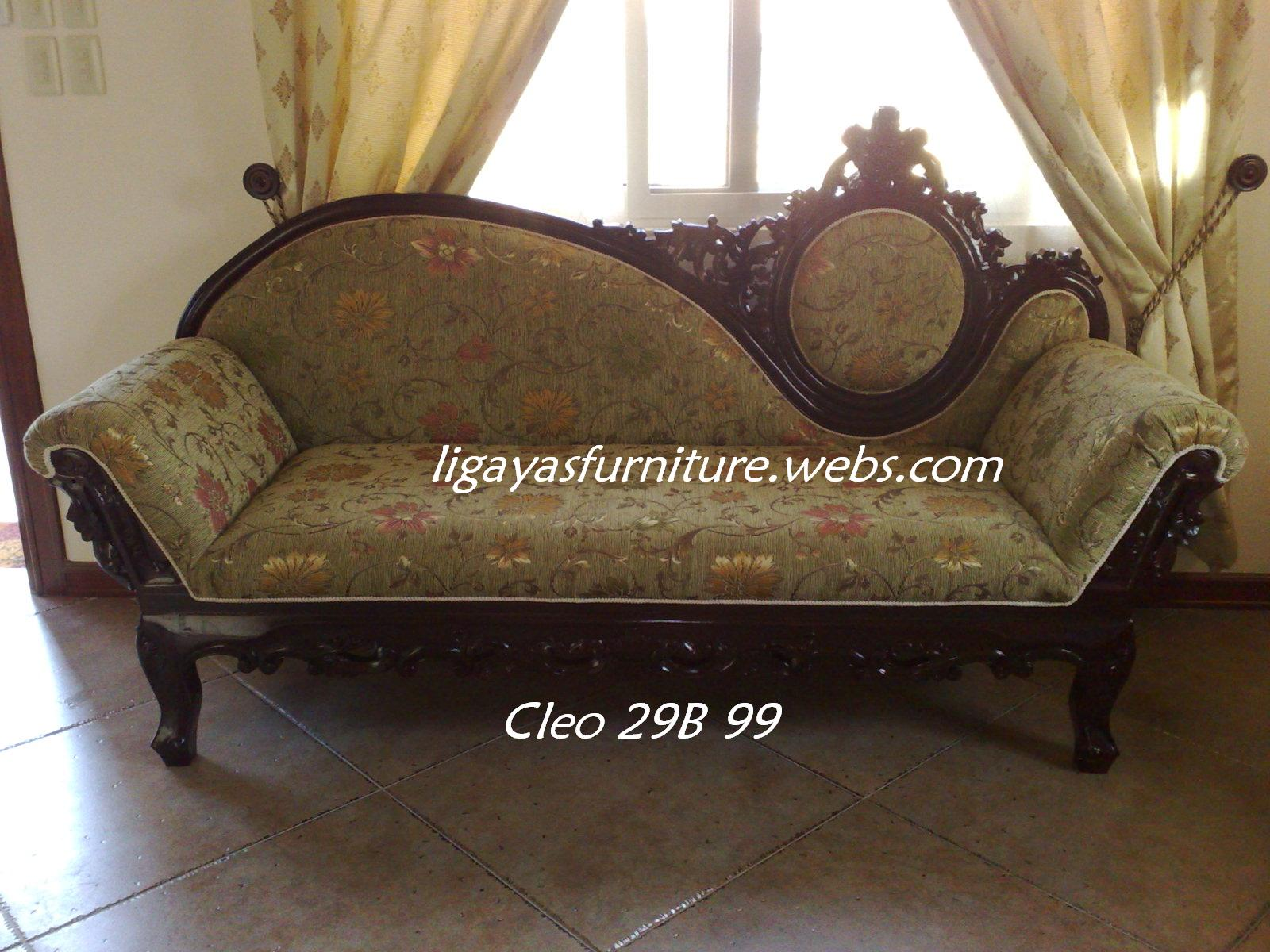 Gallenera Sala Set 1pc 3seater Narra Wood 28k 25w X 54l X 48h Ligaya 39s