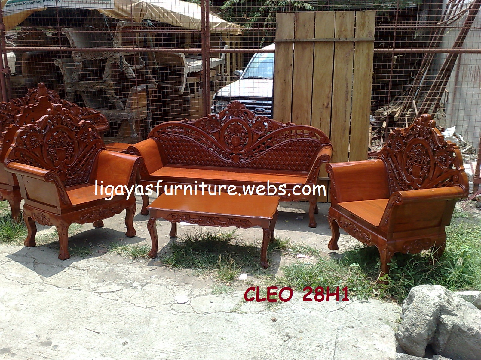 Sala Set Narra Cleopatra Sala Set Any Design Standard Size Narra Wood