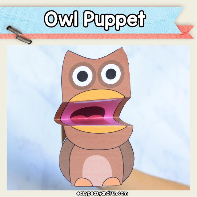 Owl Puppet Printable \u2013 Easy Peasy and Fun Membership
