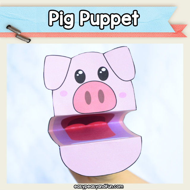 Pig Puppet Printable \u2013 Easy Peasy and Fun Membership