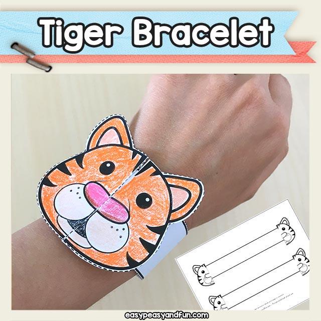 Printable Tiger Paper Bracelet Templates \u2013 Easy Peasy and Fun Membership