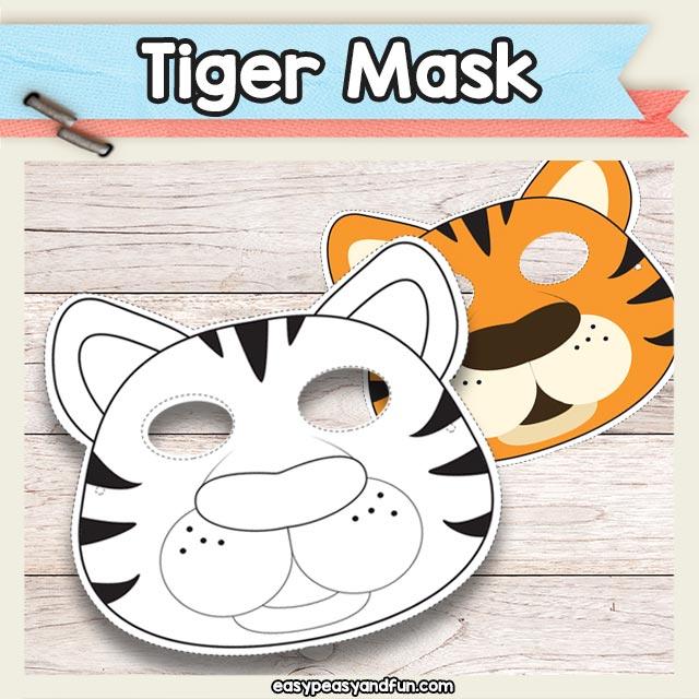 Printable Tiger Mask Template \u2013 Easy Peasy and Fun Membership