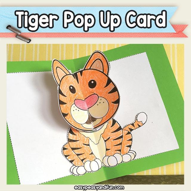 Tiger Pop Up Card Printable Template \u2013 Easy Peasy and Fun Membership