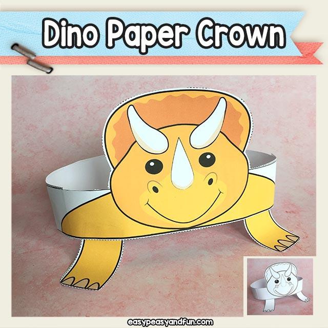 Triceratops Dinosaur Paper Crown Hat Printable \u2013 Easy Peasy and Fun