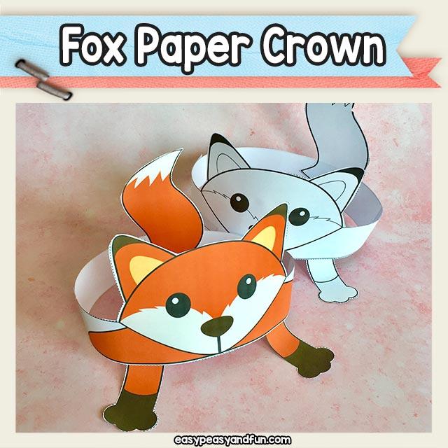 Fox Paper Crown Hat Printable \u2013 Easy Peasy and Fun Membership