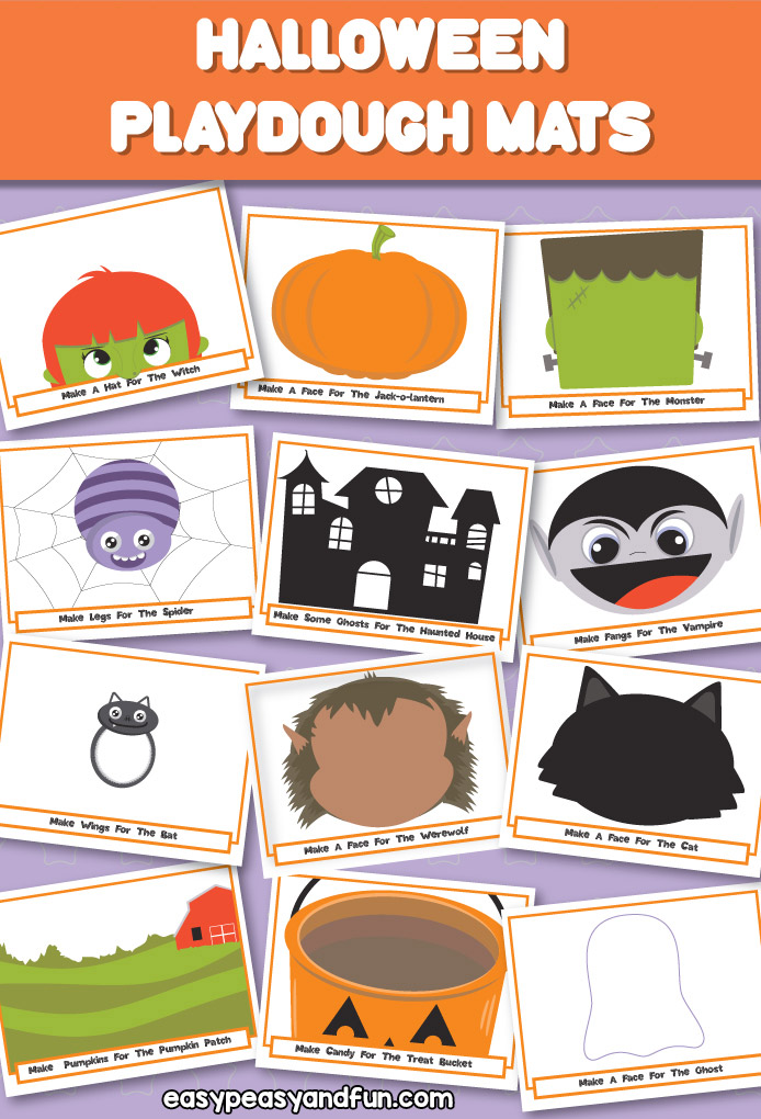 Printable Halloween Play Dough Mats \u2013 Easy Peasy and Fun Membership