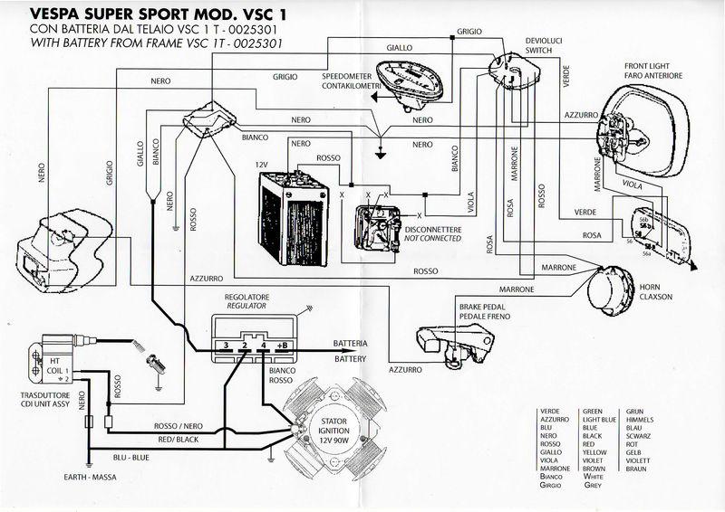 Modern Vespa  Vespatronic and battery