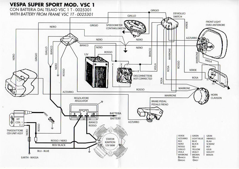 vespatronic wiring diagram