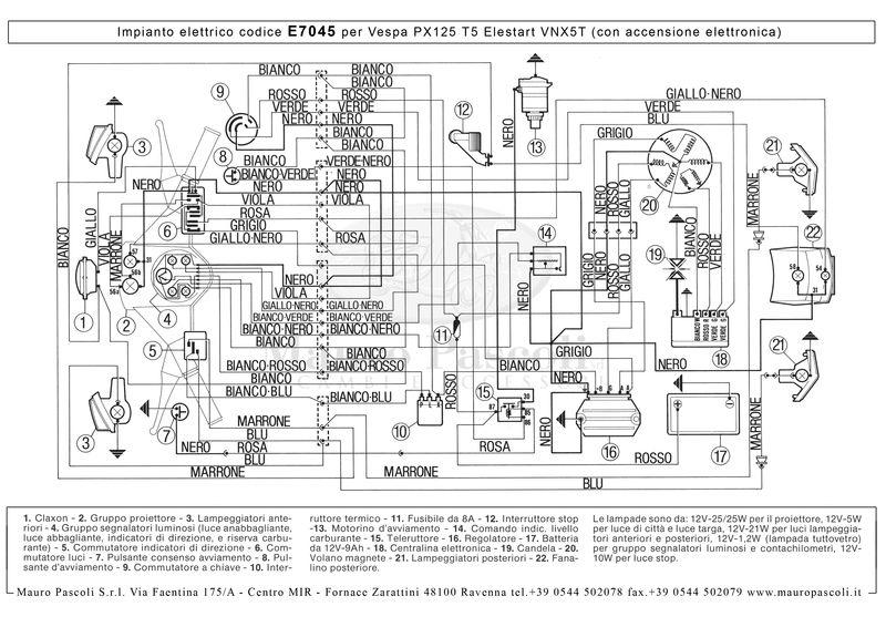 11 Pole Stator Wiring Diagram Modern Vespa T5 Mk1 Wiring Diagram