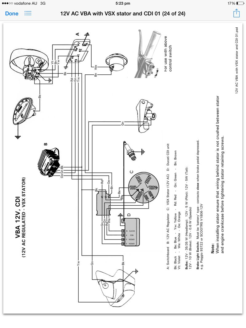 vespa vbb electrical diagram