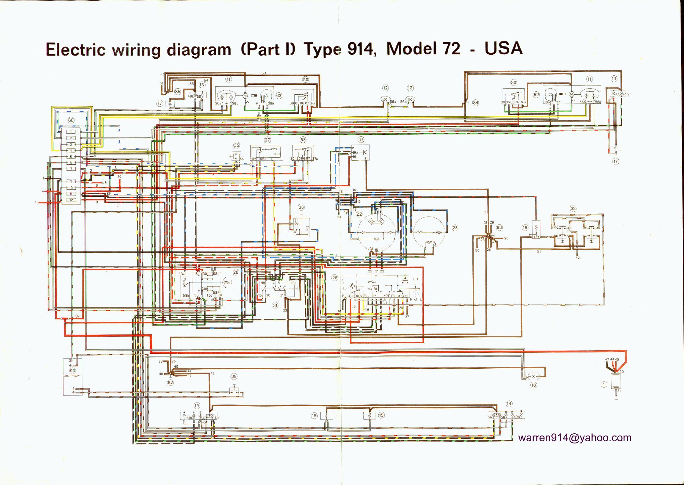 1973 porsche wiring diagram