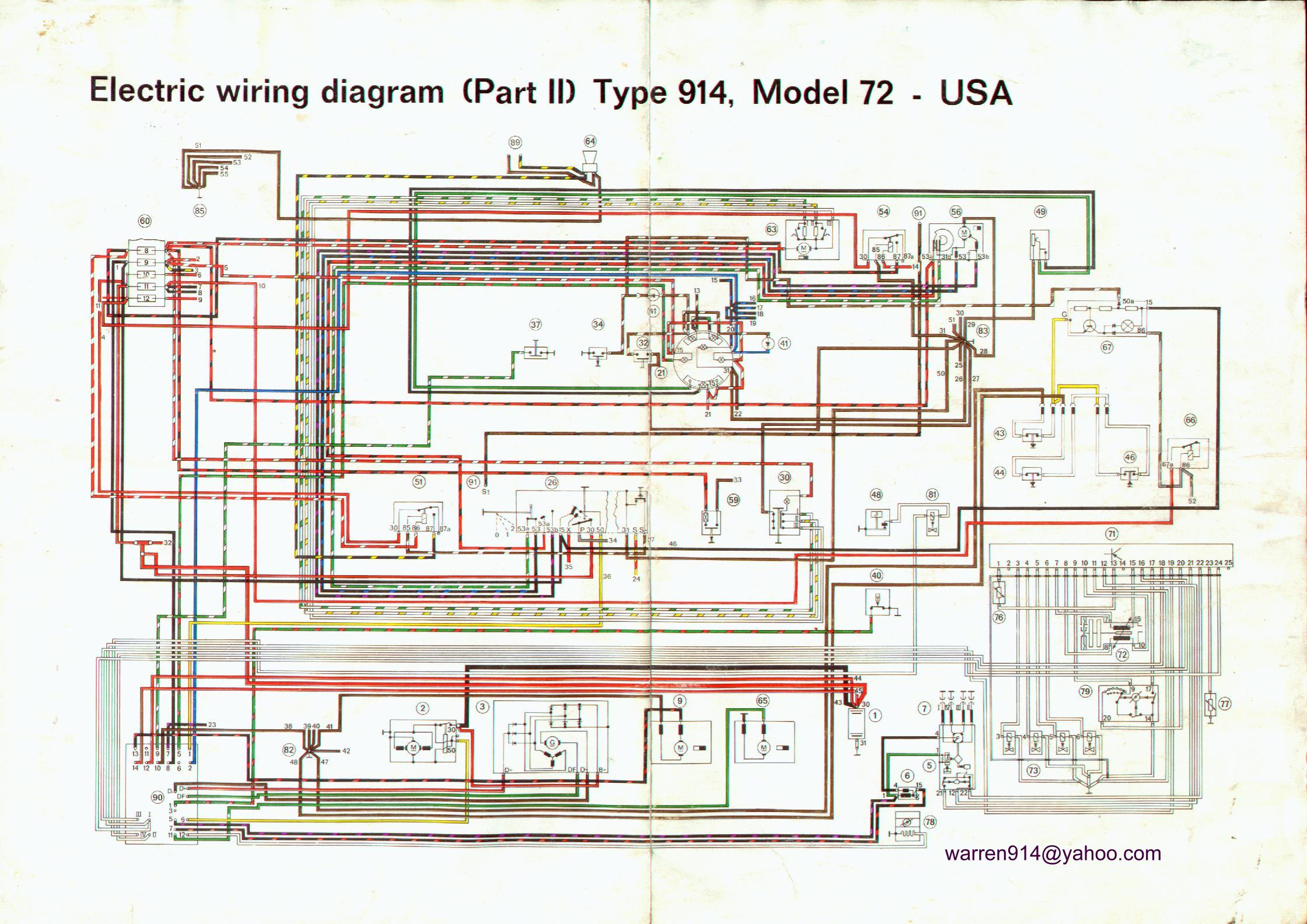 porsche 914 wiring harness diagram