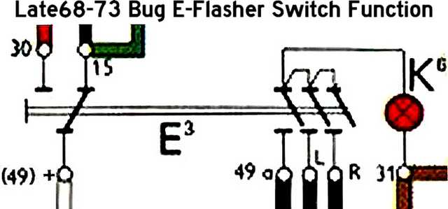 wiring diagram for 68 vw bug