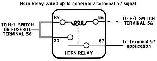3 terminal horn relay