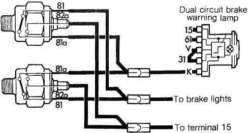 diagram of brake pressure warning light wiring