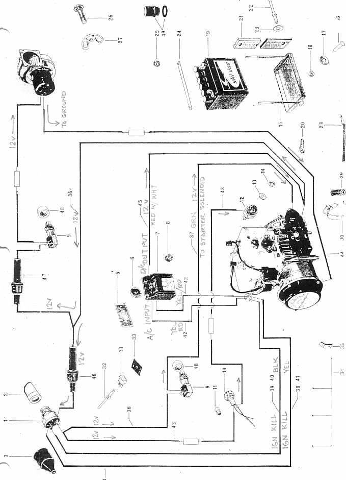 sea doo starter wiring diagrams
