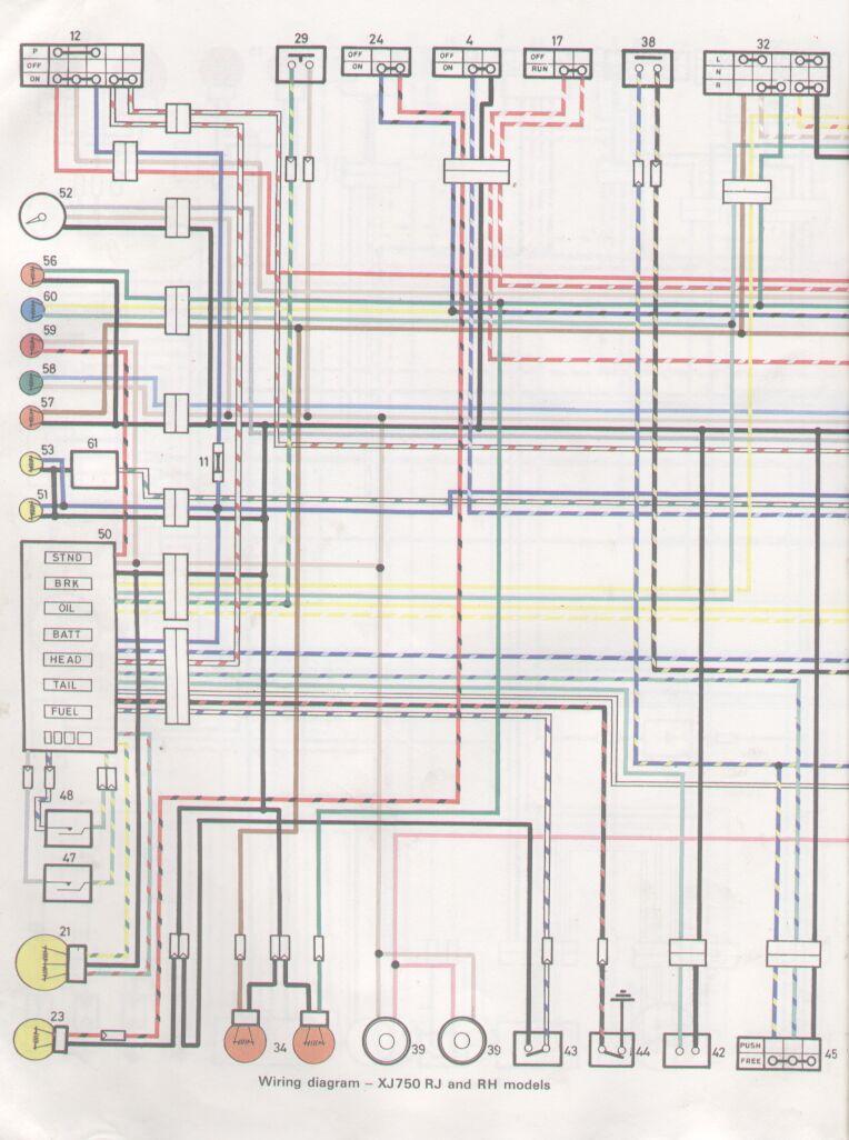 1981 yamaha xj750 wiring diagram