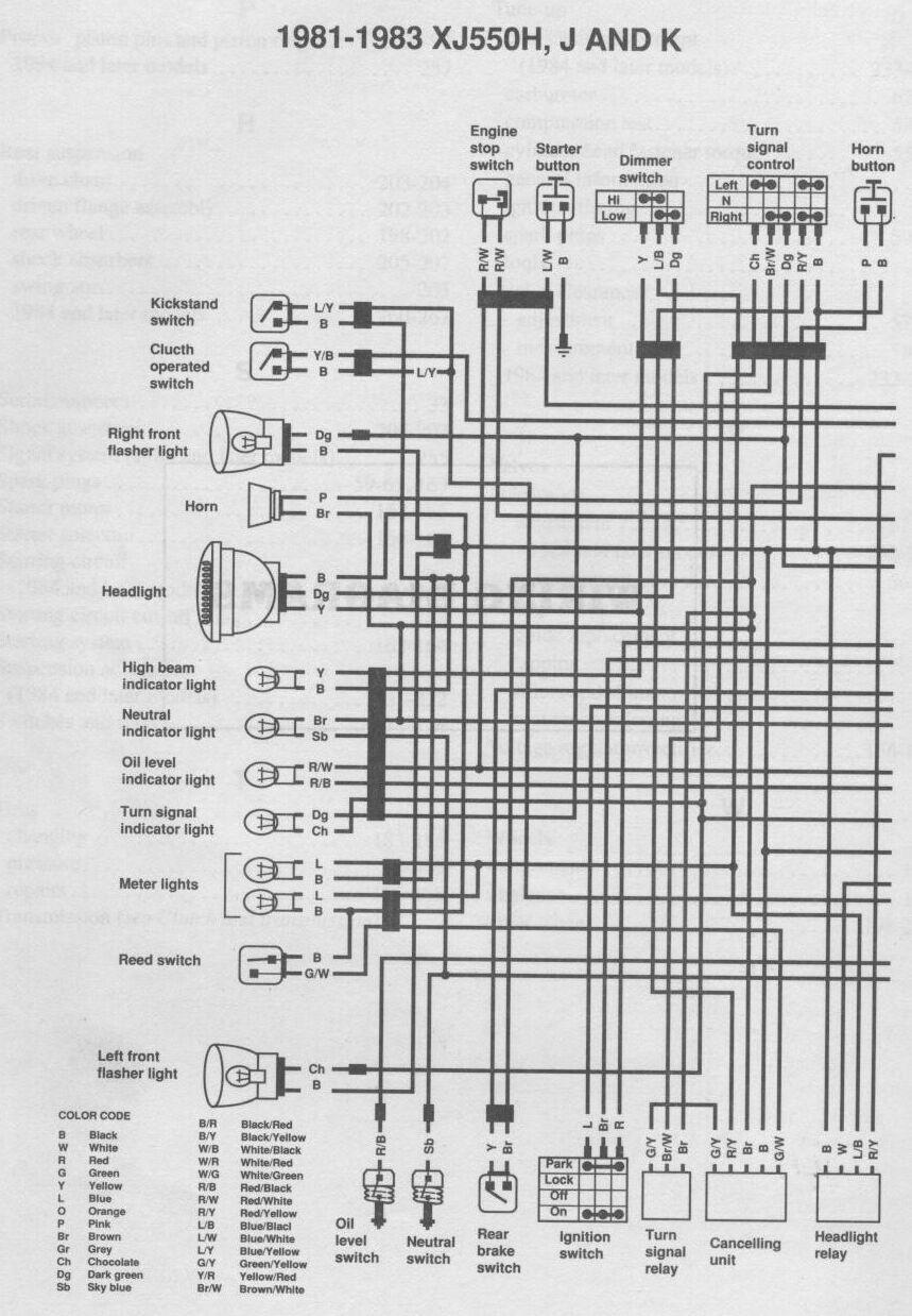yamaha xj550 maxim wiring diagram